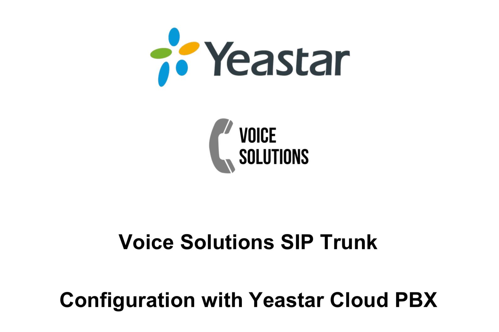 SIP trunk voor yeastar cloudPBX