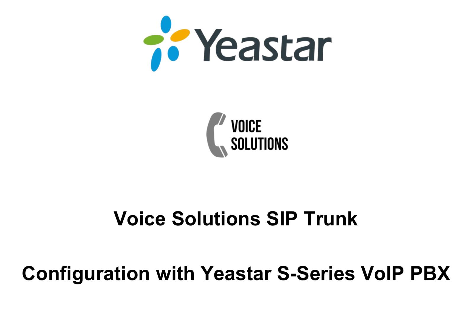 SIP trunk voor Yeastar S-serie